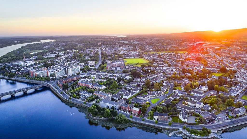 Aerial View Limerick City